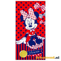 Strandlaken Minnie Mouse – Rood