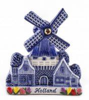 3D Magneet - Delftsblauw Molen - Groot bij debadeend.nl