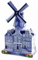 Delfstblauw Stadsmolen - 14 cm bij debadeend.nl