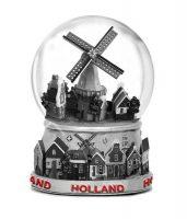 Metalen Waterbol - 10 cm - Dorpstafereel Holland bij debadeend.nl