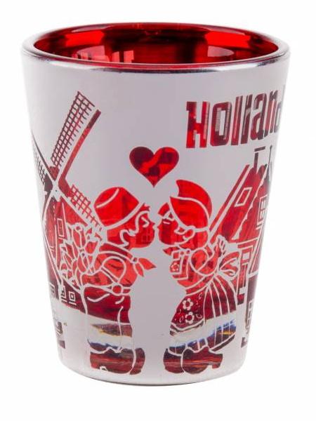 Shotglas Holland - Metallic Rood / Zilver bij debadeend.nl