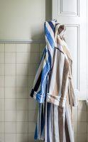 Luxe Badjas Stripes Blauw / Wit - Maat L bij debadeend.nl