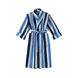 Luxe Badjas Stripes Blauw - Wit