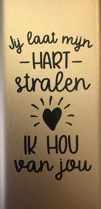 Powerbank - Jij laat mijn hart stralen, Ik hou van jou bij debadeend.nl