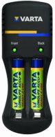 Batterij Lader voor 2 stuks AA of AAA batterijen + Gratis 2 800mA AAA Oplaadbare Batterijen (Ready to Use) bij debadeend.nl