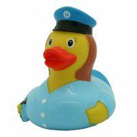 Badeend Politievrouw - 8,5 cm bij debadeend.nl