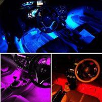 RGB Led Strip met 20 kleuren - 2 meter - Auto interieur verlichting bij debadeend.nl