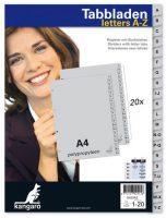 Tabbladden - Letters A-Z - 4 gaats - 20 stuks bij debadeend.nl