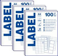 A4 labels 100 vel 99 x 38mm