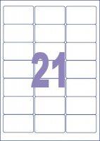 Universele adresetiketten - 100 vel a 21 stuks - 63.5 x 38.1 mm bij debadeend.nl