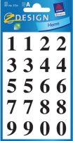 Cijferetiket - Zwartkleurig cijfers - 1 t/m 10 bij debadeend.nl