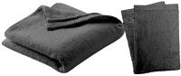 Textielset Zwart - Badhanddoek 50 x 100 cm + 2 Gratis Washandjes bij debadeend.nl