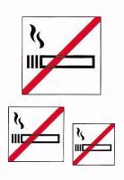 Niet Roken Etiketten - 1 pakje met 3 stickers bij debadeend.nl