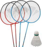 Badmintonset - Zwart - Met 2 shuttles, 2 rackets en 1 tas bij debadeend.nl