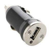 Mini USB Lader voor in de Auto - 1x 5 volt output - Zwart bij debadeend.nl