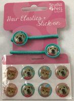 Haarelastiekjes + Stickers Groen Hond bij debadeend.nl