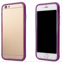 Telefoonhoesje Bumper voor iPhone 8 plus - Paars bij debadeend.nl