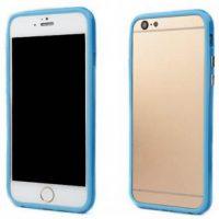 Telefoonhoesje Bumper voor iPhone 8 plus - Lichtblauw bij debadeend.nl