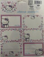 Schooletiketten Hello Kitty - 18 etiketten (3 vellen, 6 labels per vel) bij debadeend.nl