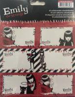 Schooletiketten Emily the Strange - 18 etiketten (3 vellen, 6 labels per vel) bij debadeend.nl