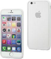 Telefoonhoesje Bumper voor iPhone 8 plus - Wit bij debadeend.nl