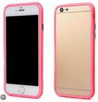 Telefoonhoesje Bumper voor iPhone 8 plus - Roze bij debadeend.nl