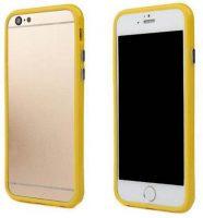 Telefoonhoesje Bumper voor iPhone 8 plus - Geel bij debadeend.nl