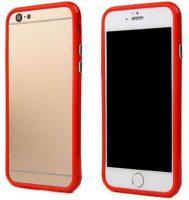 Telefoonhoesje Bumper voor iPhone 8 plus - Rood bij debadeend.nl