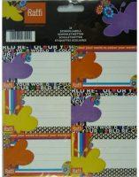 Schooletiketten - Your World Recolored - 18 etiketten (3 vellen, 6 labels per vel) bij debadeend.nl