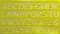 """3/4"""" Lettering Stencil - Geel bij debadeend.nl"""
