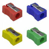 Gekleurde puntenslijpers - 5 stuks in 4 kleuren - Rood, Blauw, Geel en Groen bij debadeend.nl