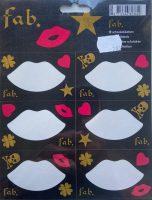 Schooletiketten - Kisses - 18 etiketten (3 vellen, 6 labels per vel) bij debadeend.nl