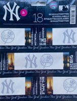 Schooletiketten – New York Yankees – 18 etiketten (3 vellen, 6 labels per vel)