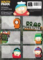 Schooletiketten - South Park: Dude I hate my Family - 18 etiketten (3 vellen, 6 labels per vel) bij debadeend.nl
