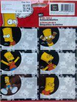 Schooletiketten - The Simpsons: Bart Simpson - 18 etiketten (3 vellen, 6 labels per vel) bij debadeend.nl