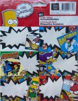 Schooletiketten - The Simpsons: Pie Man and the Cupcake Kid - 18 etiketten (3 vellen, 6 labels per vel) bij debadeend.nl