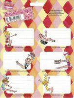 Schooletiketten - Life is a circus - 18 etiketten (3 vellen, 6 labels per vel) bij debadeend.nl