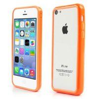 Telefoonhoesje Bumper voor iPhone 8 plus - Oranje bij debadeend.nl