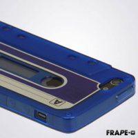 Telefoonhoesje voor iPhone 5/5s en SE - Vintage Cassette - Wit bij debadeend.nl