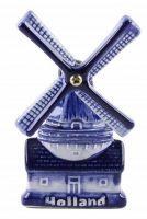 3D Magneet - Delftsblauw Molen Holland bij debadeend.nl