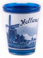 Shotglas Holland - Delftsblauw bij debadeend.nl