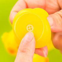Mini Badeendje - Gele Rubber Duck - 5 cm bij debadeend.nl