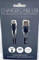 Micro USB kabel - Laad en Data - 1 meter - Zwart bij debadeend.nl