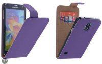 Telefoonhoesje Wallet Flipcase Zwart voor Samsung Galaxy S5 bij debadeend.nl