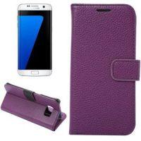 Telefoonhoesje Wallet Bookcase Paars voor Samsung Galaxy S5 bij debadeend.nl