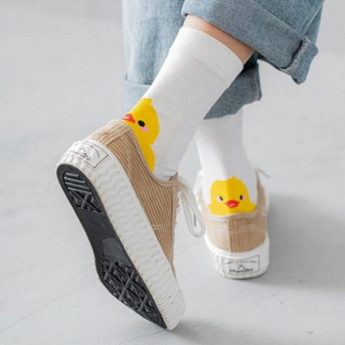 Rubber Duck Badeend Unisex Sokken - Maat 35 ~ 40 - Wit bij debadeend.nl